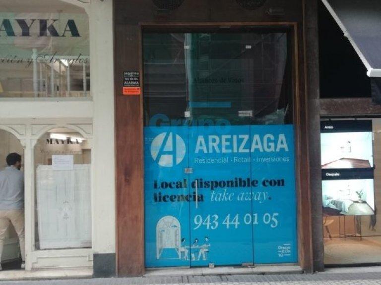 Calle San Marcial, junto a la espiga y futura salida del metro. Local con licencia de take away- no tiene salida de humos- disponible 1 de abril